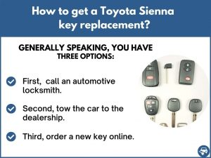 How to get a Toyota Sienna replacement key