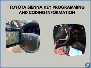 Automotive locksmith programming a Toyota Sienna key on-site