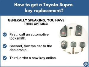 How to get a Toyota Supra replacement key