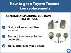 How to get a Toyota Tacoma replacement key