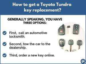 How to get a Toyota Tundra replacement key