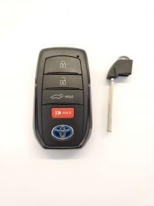 Toyota remote key fob battery replacement information (Used for 2020 and up)