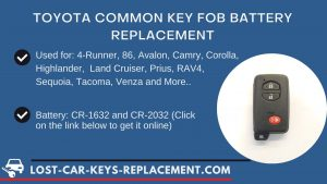 Toyota key fob battery replacement tutorial video