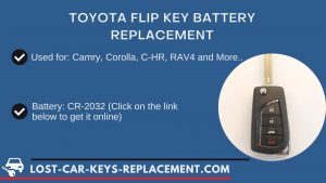 Toyota key battery replacement tutorial video