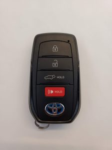 Toyota Sienna remote key fob battery replacement information (HYQ14FBX)