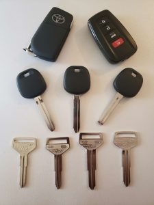 Replacement car keys - non-chip, transponder, push to start/ remote key fob (Toyota)