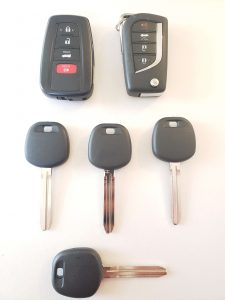 All Toyota key fobs and transponder keys must be coded first