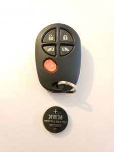 Toyota Keyless Entry Remote and Battery