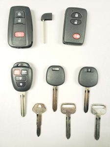 Toyota replacement keys - Key fobs, transponder and non-chip keys