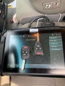 Chrysler transponder keys made on-site, including programming