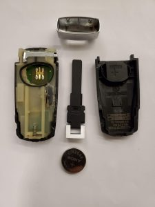 Battery replacement of VW key fob