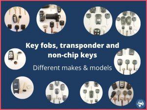 Variety of car keys 2021
