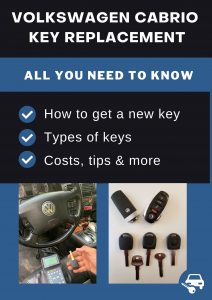 Volkswagen Cabrio key replacement - All you need to know