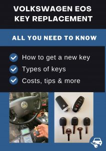 Volkswagen Eos key replacement - All you need to know