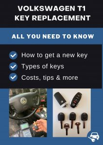 Volkswagen T1 key replacement - All you need to know