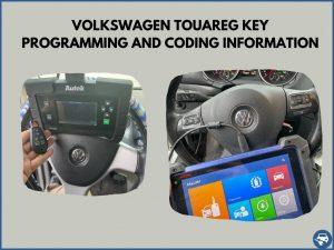 Automotive locksmith programming a Volkswagen Touareg key on-site
