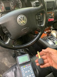 High-security key coded with a special machine - Volkswagen