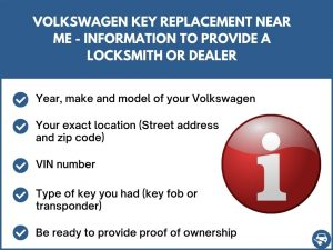 Volkswagen key replacement near me - Relevant information