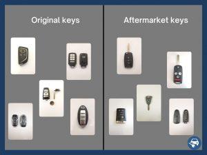 aftermarket key fobs and original car keys