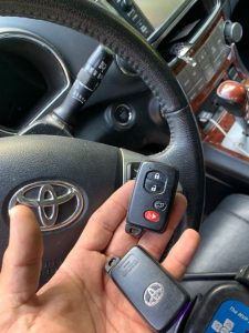 Key fobs coded on-site - Toyota