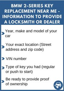 BMW 2-Series key replacement service near your location - Tips