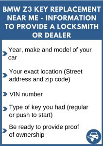 BMW Z3 key replacement service near your location - Tips