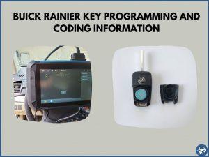 Automotive locksmith programming a Buick Rainier key on-site