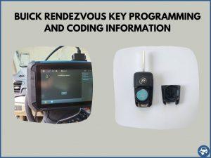 Automotive locksmith programming a Buick Rendezvous key on-site