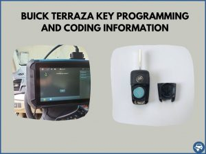 Automotive locksmith programming a Buick Terraza key on-site