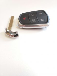 Key fob replacement & emergency key (Cadillac)